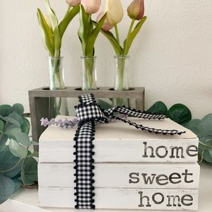 Other - Home Sweet Home Decorative Book Stack
